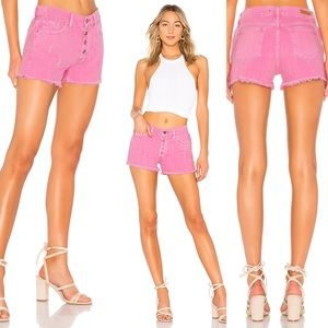 Sanctuary Wild Cherry Weekend Fringed Jean Shorts